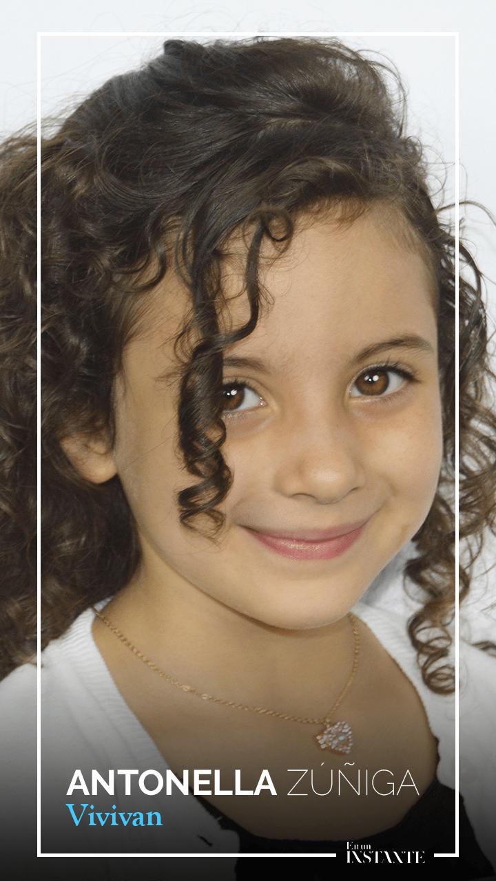 Antonella Zuñiga interpreta a Vivian, niña protagonista de la película